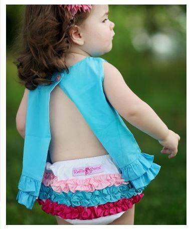 ★啦啦看世界★ Rufflebutts 彩虹屁屁褲  尿布褲 小短褲 嬰兒彌月禮 出生