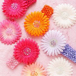 【西村媽媽】獨家代理日本 BABY DECO 甜心公主髮帶組( 附兩朵花 )