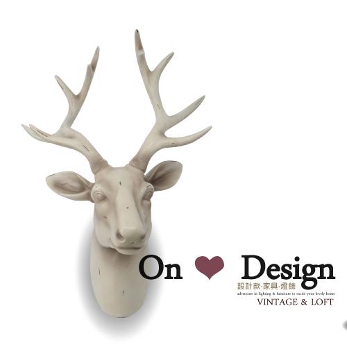 On ♥ Design ❀Nordic Style DECO 陳列 仿真 麋鹿首 壁掛