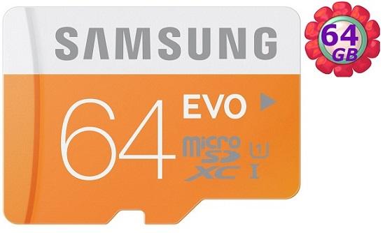SAMSUNG 64GB 64G microSDXC【EVO 48MB/s】micro SD SDXC microSD UHS-I UHS U1 C10 原廠包裝 手機記憶卡 記憶卡