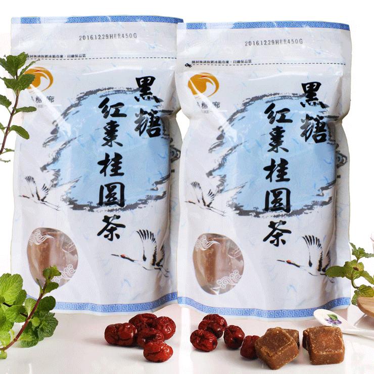 【翔鶴糖廓】黑糖桂圓紅棗茶(大顆,370g)