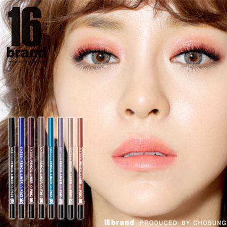 韓國 16 brand 玩色眼線膠筆 0.5g 附削筆器 眼線筆 眼線膠筆 亮片【B061980】