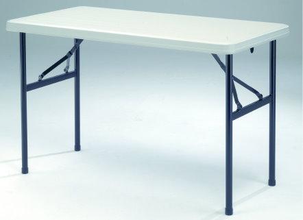 ♪♪外銷優質收納桌♪♪【MK2448】122X60公分超實用環保折疊收納桌/補習班/辦公室工作桌/教學用桌/佛堂用桌/展覽桌/戶外活動桌★★