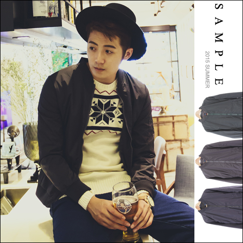 尼龍 立領外套【SA13927】素面風衣夾克【Sample】