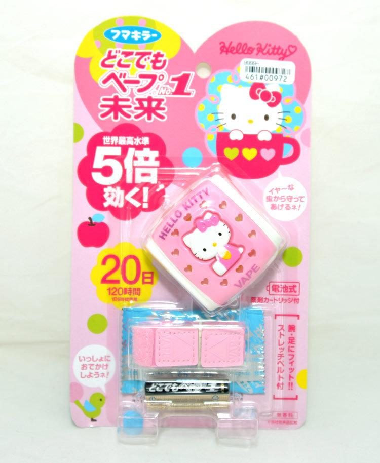 日本帶回 vape Hello Kitty 攜帶型電子防蚊手環