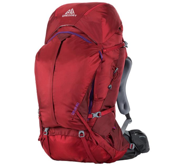 【鄉野情戶外專業】 Gregory |美國|  Deva 60 女性系列 登山背包/背包客 百岳用品 自助旅行 紅寶石/S_ 75089