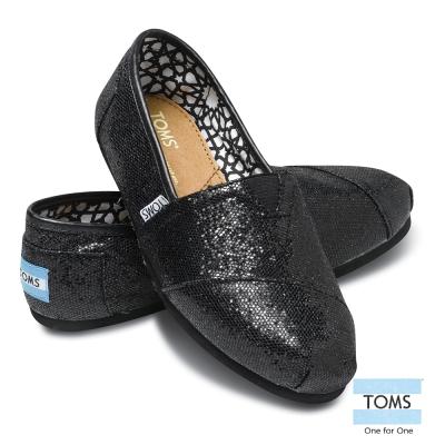 [女款] 國外代購TOMS 帆布鞋/懶人鞋/休閒鞋/至尊鞋 亮片系列  黑色