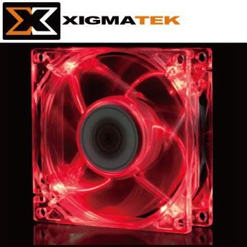 Xigmatek CLF-F8252 8cm 紅光 LED 系統散熱風扇