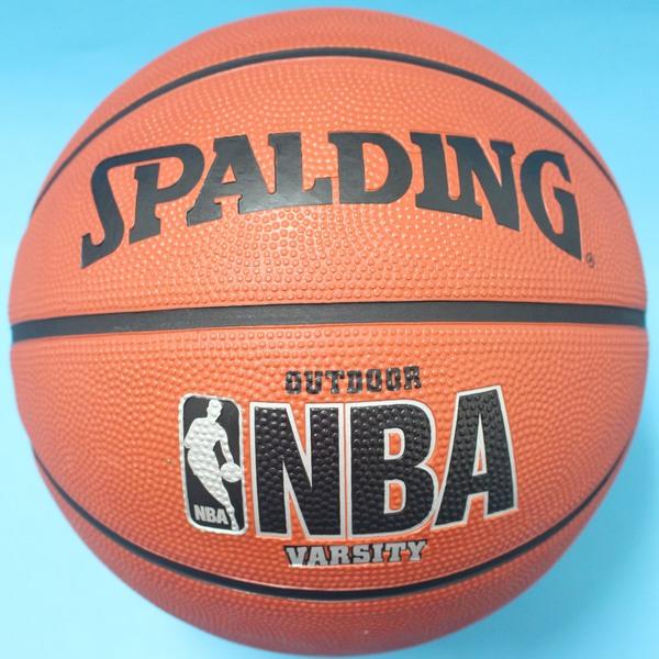 SPALDING 斯伯丁籃球 銀字 NBA籃球 斯伯丁7號籃球(銀黑字)/一個入{特590}