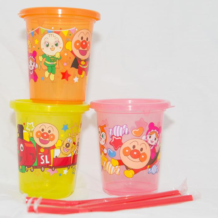 麵包超人 水杯三件組 日本製造 附吸管 270ml 正版商品