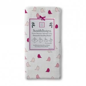 美國【Swaddle Designs】薄棉羅紗多用途嬰兒包巾 (小雞桃)