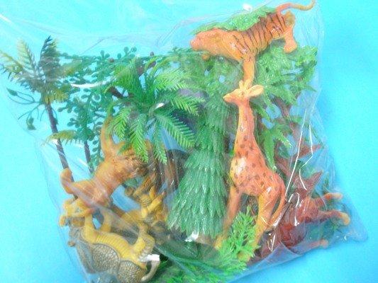 動物模型 仿真動物 仿真叢林野生動物模型(中型)6入混款/一包入{促180}