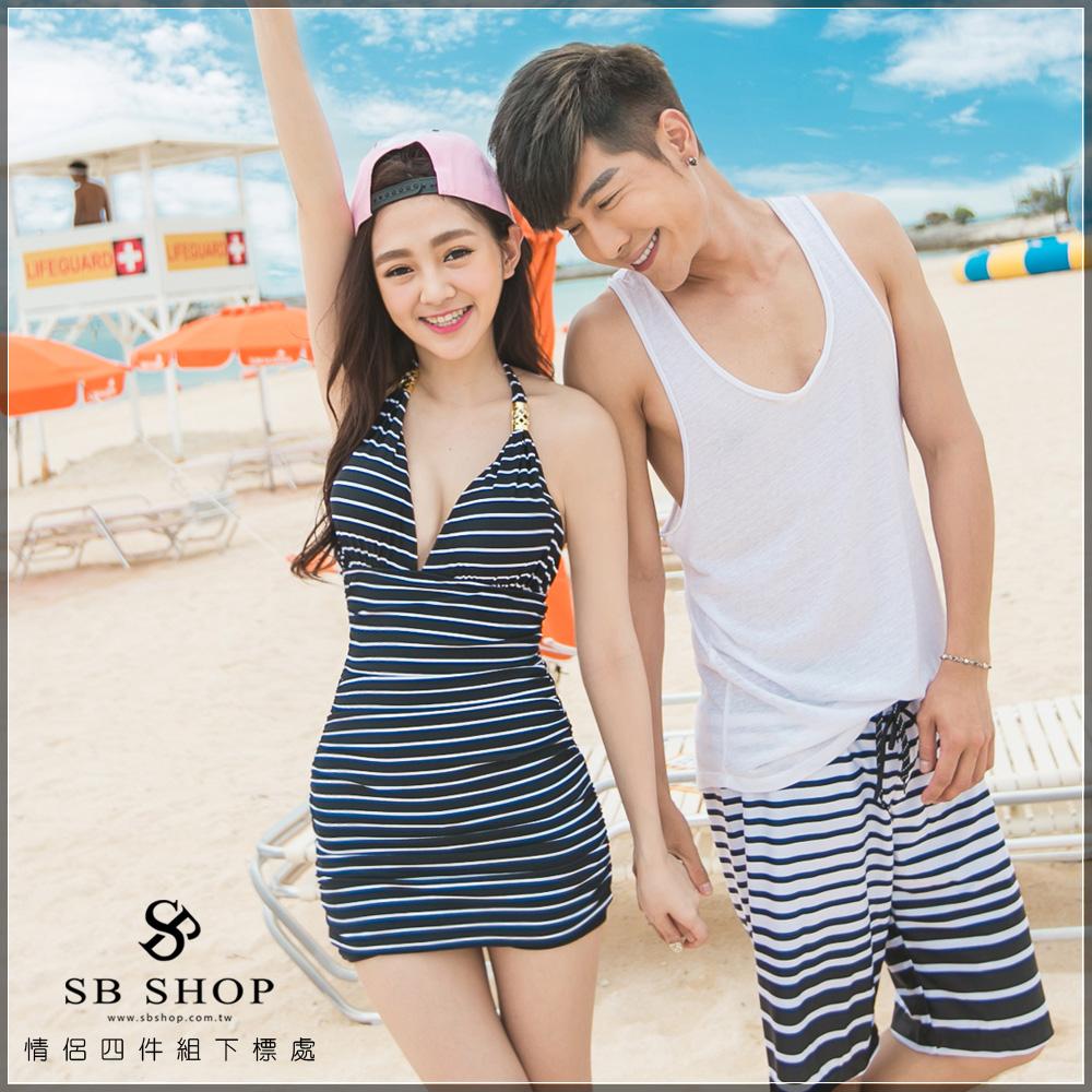 SB SHOP【愛戀馬德里】ch0064-2 連身比基尼+男泳褲 下標處。鋼圈/春吶/泳衣/泡湯/比基尼