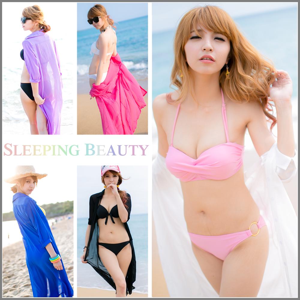 SB SHOP【 千頌伊風 雪紡五分袖襯衫5色 ts45】韓版 超顯瘦。五分袖薄外套。防曬比基尼
