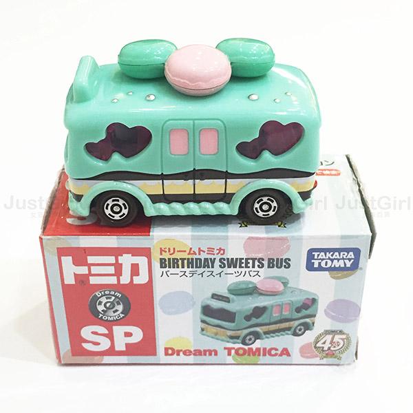 TOMY 玩具車 小汽車 愛心 馬卡龍 蛋糕 巴士 玩具 金屬模型車 正版日本進口 * JustGirl *