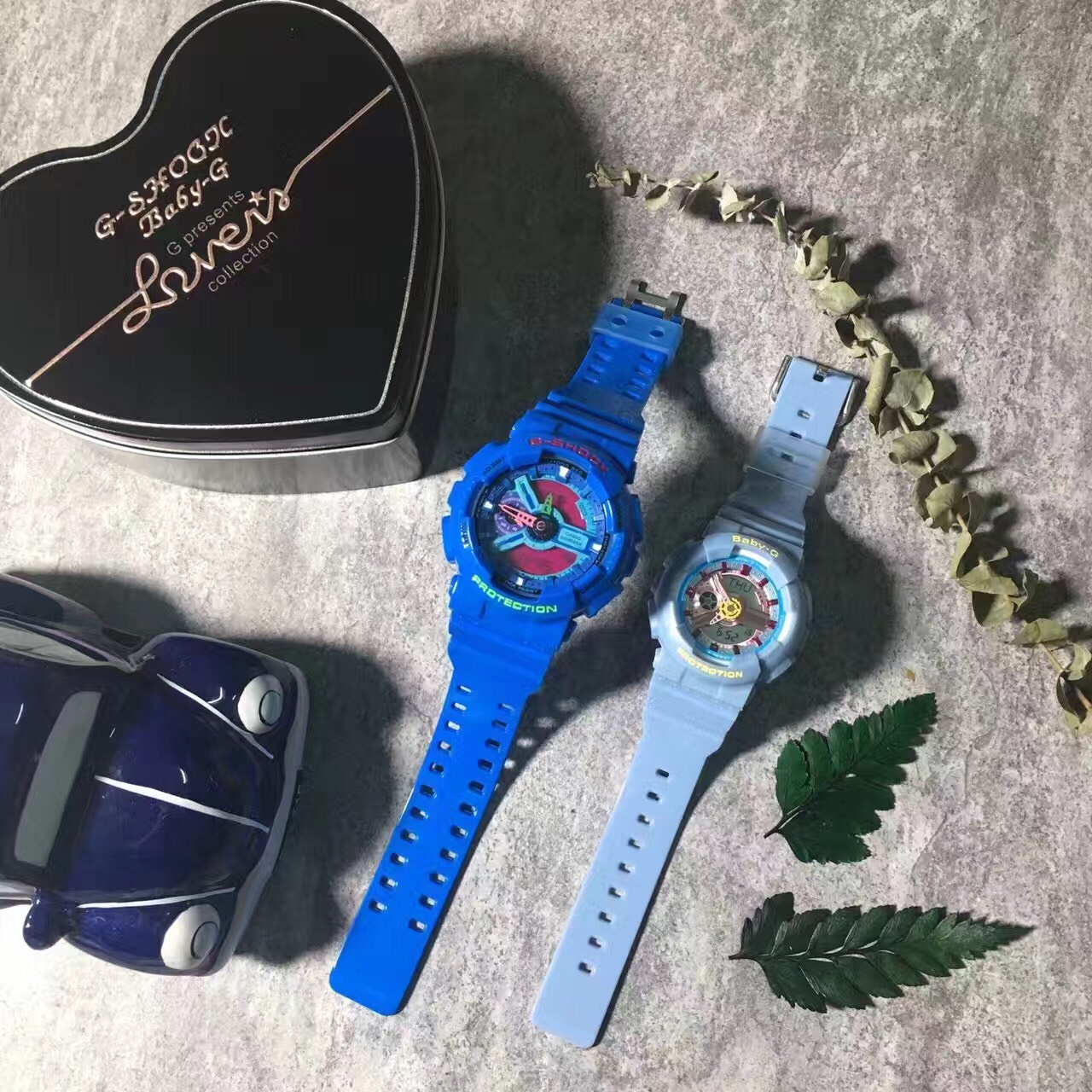 國外代購CASIO G-SHOCK GA110HC2 & BABY-G BA110CA2A  情侶對錶 雙顯 防水手錶