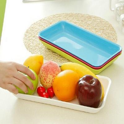 創意糖果色長條形廚房水果盤收納盒【省錢博士】