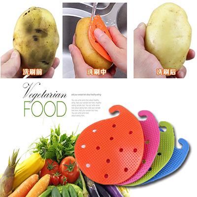 蔬菜瓜果刷 創意蔬菜刷 隔熱墊 果蔬刷洗土豆黃瓜甘蔗工具蔬果刷【省錢博士】 9元