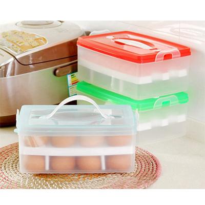 防碰雞蛋保鮮收納盒 可擕式雙層24格 / 外出旅遊【省錢博士】