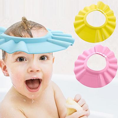 寶寶兒童洗髮浴帽/可調節浴帽(不挑色)