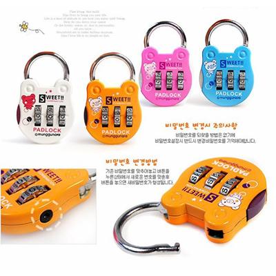 箱包密碼鎖 / 私人防盜利器 卡通金屬鎖 (隨機款) 單入