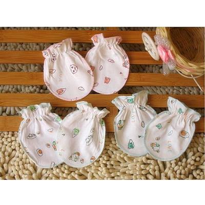 嬰兒純棉防抓傷手套(隨機款)一對裝