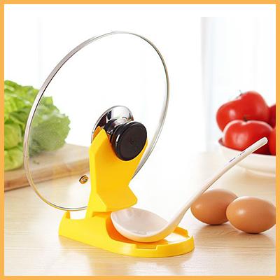 多功能摺疊鍋蓋架/湯勺架 廚房工具(隨機色)單入