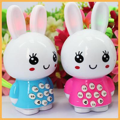 可愛寶寶迷你兔故事機 / 兒童益智玩具 早教機多功能點讀機(隨機色)單入