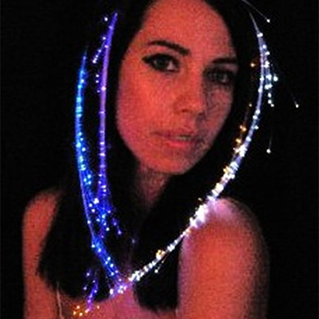 LED燈發光假髮/頭飾髮夾【省錢博士】萬聖聖誕節日派對用品