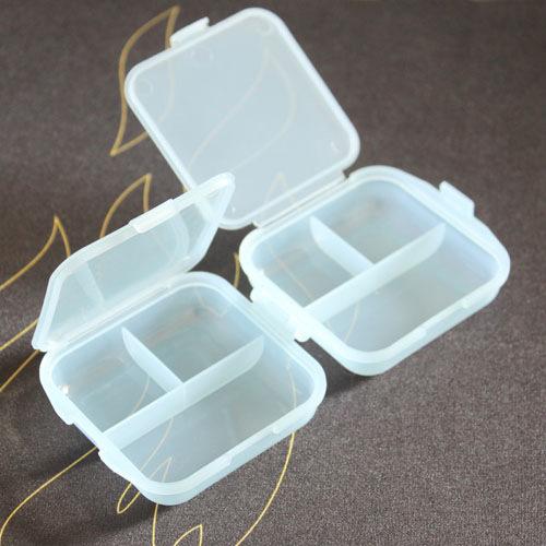 加厚雙層6格透明藥盒【省錢博士】小物收納盒 / 顏色隨機