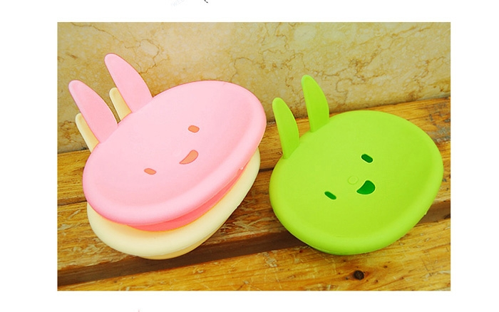 【省錢博士】卡通可愛小兔香皂盒 可愛笑臉肥皂盒 生活用品 不挑色
