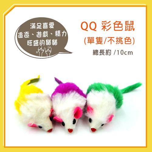 【力奇】QQ 彩色鼠(單隻) (WE220193)-20元 【隨機出貨,恕不挑色】可超取(I002E48)
