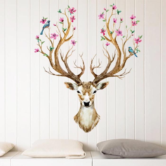 壁貼 彩色麋鹿 居家裝飾牆壁貼紙【YV6665】快樂生活網
