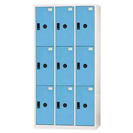 【nicegoods】多功能置物櫃/9格(ABS門片) -粉藍(收納櫃 整理櫃)