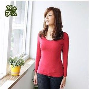 Ms.Free 免穿Bra發熱衣 日本機能型發熱紗長袖衫BRATOP - 紅色