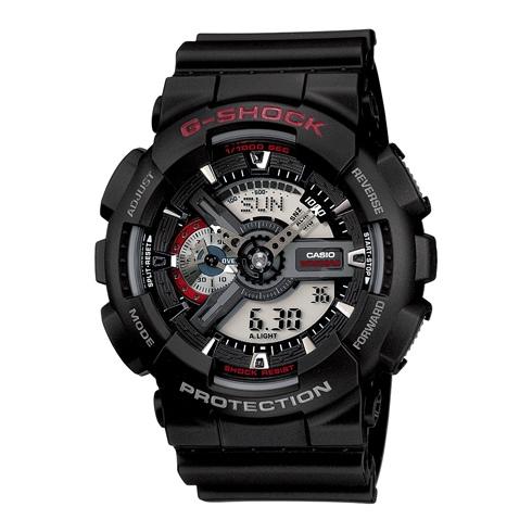 CASIO G-SHOCK GA-110-1A經典質感黑流行腕錶/黑面51mm