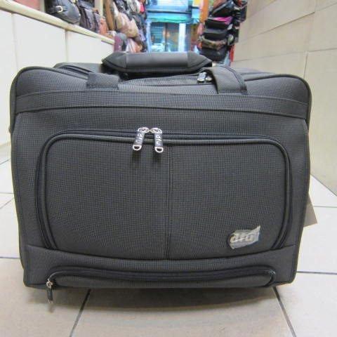 ~雪黛屋~DFU 電腦拉桿事務箱多夾層設計高密度防水尼龍布個人登機行李箱 工具箱#4026深灰