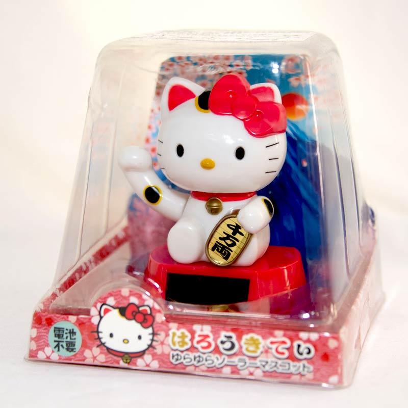 Hello Kitty 招財貓 千萬兩 太陽能 搖頭娃娃 日本帶回 正版商品