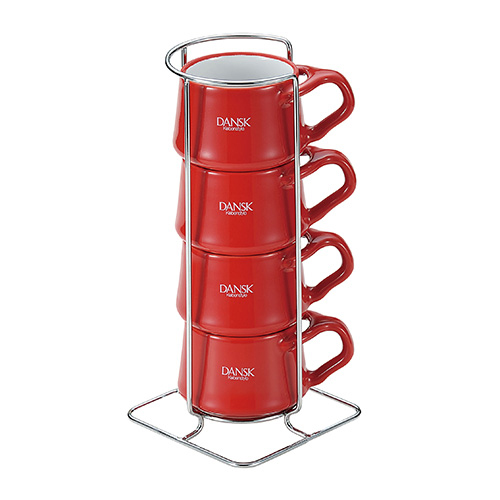 《DANSK》琺瑯材質咖啡杯(4件組)
