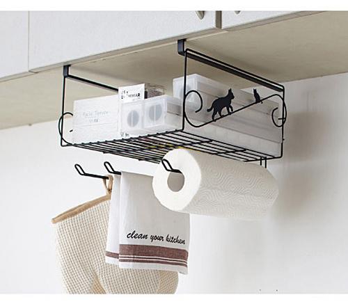 【cecile雜貨】貓咪造型儲物吊架