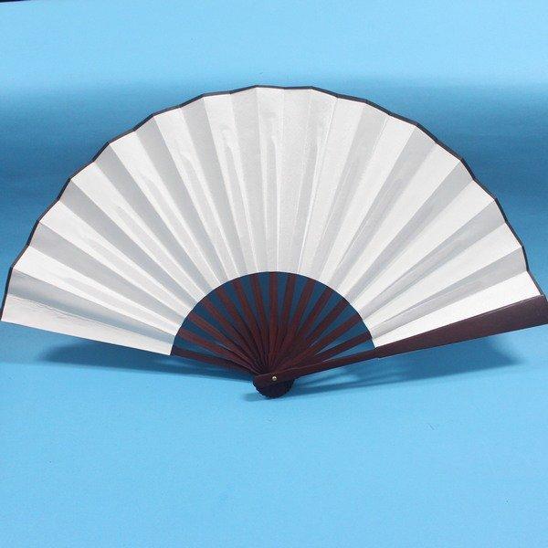 大仿古空白裐扇子 雙面空白高級絹布扇子 空白布扇子 (標準型) 長33cm/一支入{定120}