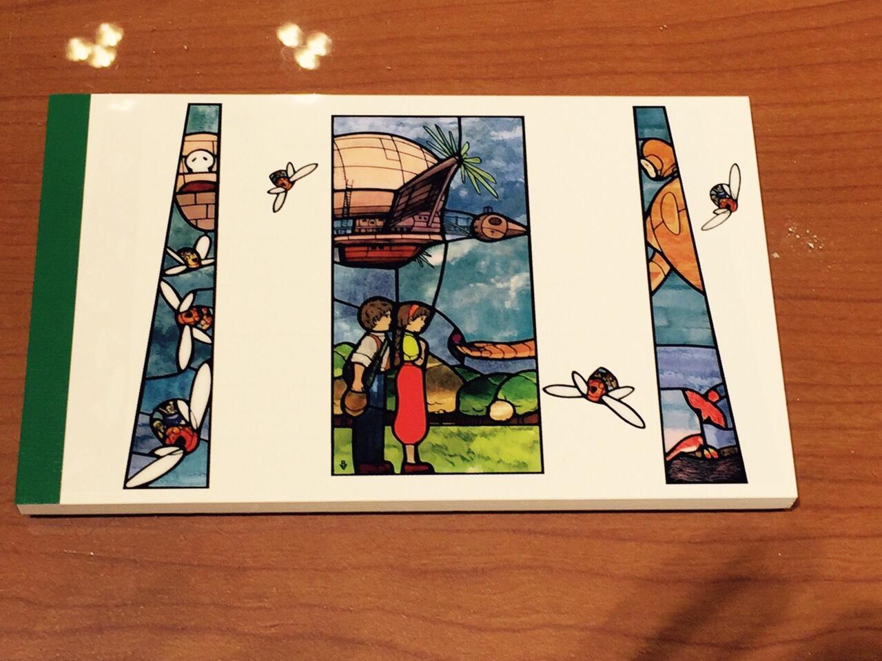 【真愛日本】15101400028 美術館限定長條便條紙-飛船 宮崎駿 文具用品 Memo 天空之城 日本帶回