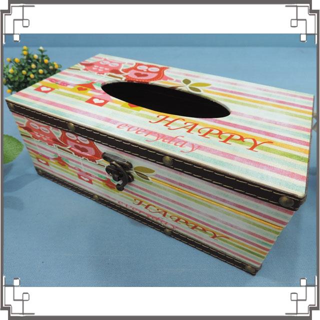 木製帆布面紙盒《PA19》可愛貓頭鷹面紙盒 居家布置 新居落成 送禮◤彩虹森林◥
