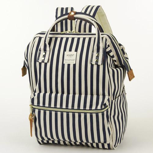 anello後背包-藍白條紋海洋風/日本原裝進口 現貨供應中(不用代購 不用等待)