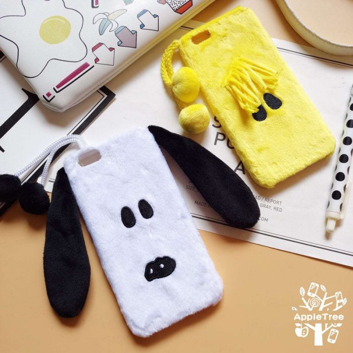 iPhone 6/6S 4.7 PLUS 5.5 熊本熊 魯魯米 姆明一族 小雞 毛絨 全包覆 手機殼 保護套 手機套