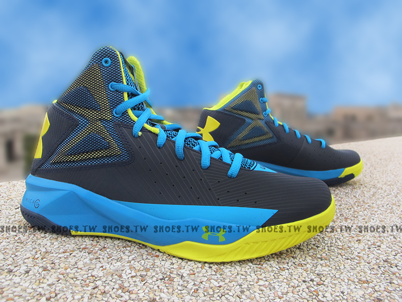 Shoestw【1264224-410】UNDER ARMOUR UA 籃球鞋 藍黃 CURRY SC30
