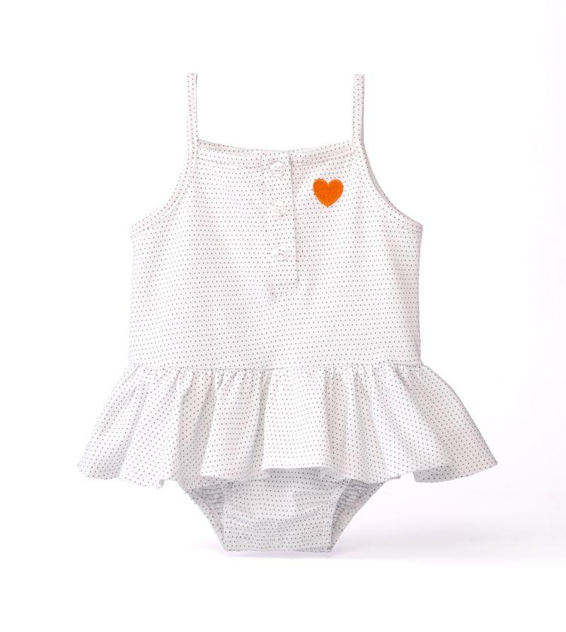 ☆傑媽童裝☆LBB小女孩愛心刺繡吊帶連身裙~白底點點【21914-3】