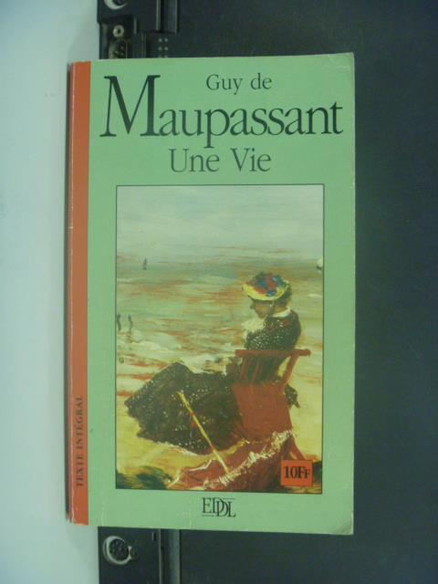 【書寶二手書T8/原文小說_GOS】Une vie_Guy de Maupassant