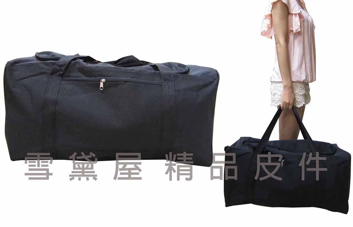 ~雪黛屋~Lian 旅行袋超大容量簡易設計U型拉鍊開釦便取放大型品防水尼龍布手提肩背斜側#8460