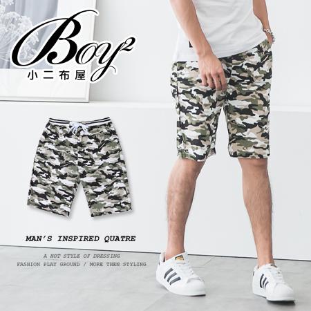 ☆BOY-2☆【JN1071】男短褲 迷彩綁帶休閒短褲 海灘褲